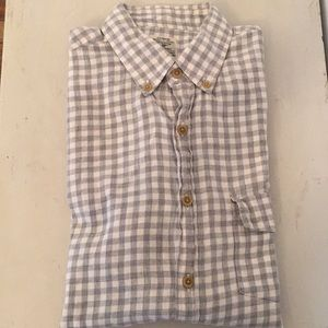 Light flannel button down